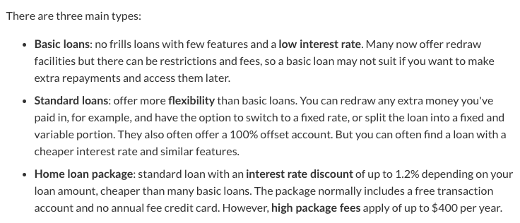 home loan types brisbane
